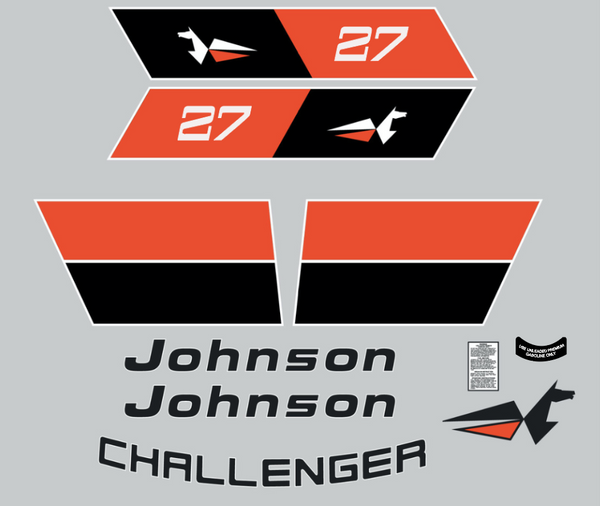 1973 Johnson Challenger  27 Decal Kit