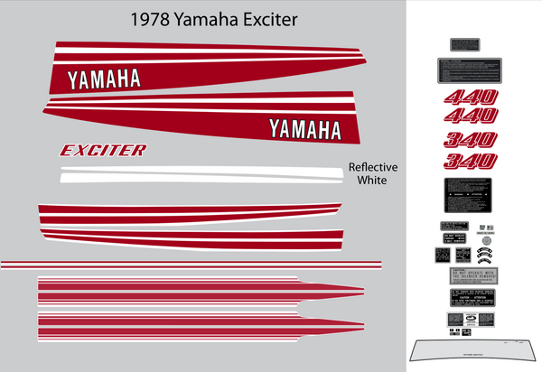 1978 Yamaha Exciter Decal Set