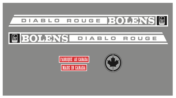 1967 - 68 Bolens Diablo Rouge Set
