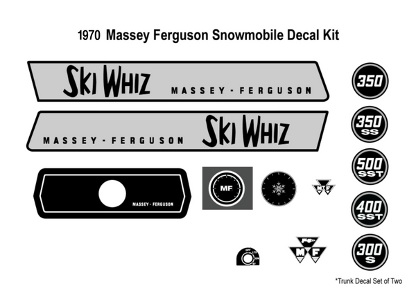 1970 Massey Ferguson Decal Kit