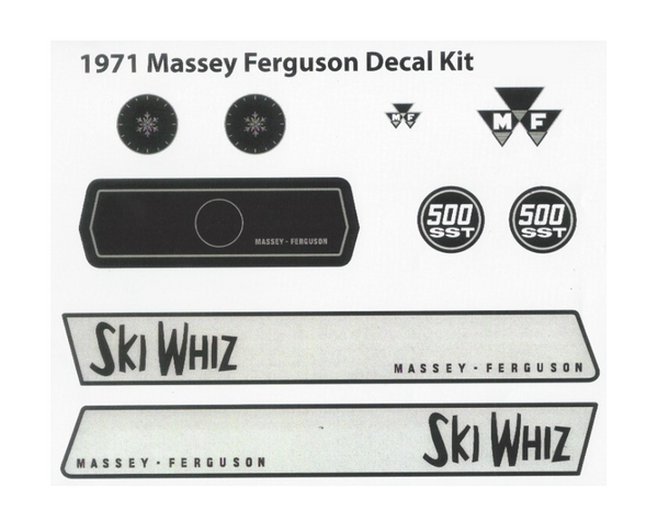 1971 Massey Ferguson Decal Kit