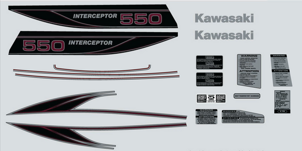 1982 Kawasaki 550 Interceptor Decal Set
