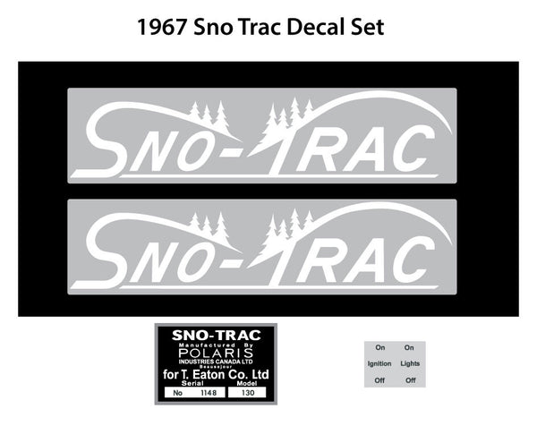 1967 Sno Trac Decal Set