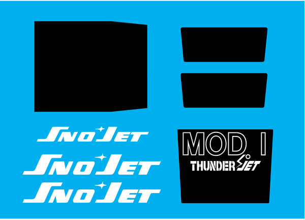 1973 Sno-Jet Thunder Jet Decal Set