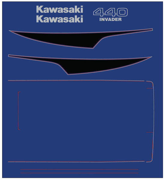 1979 - 1980 Kawasaki Invader Decal set