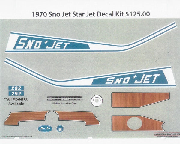 1970 Sno-Jet Star Jet Decal Kit