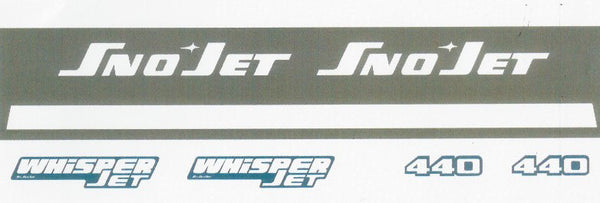 1973 Sno-Jet Whisper Jet Decal Set