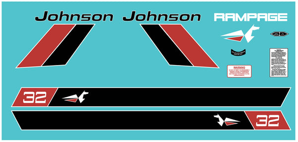 1972 Johnson Rampage Decal Kit