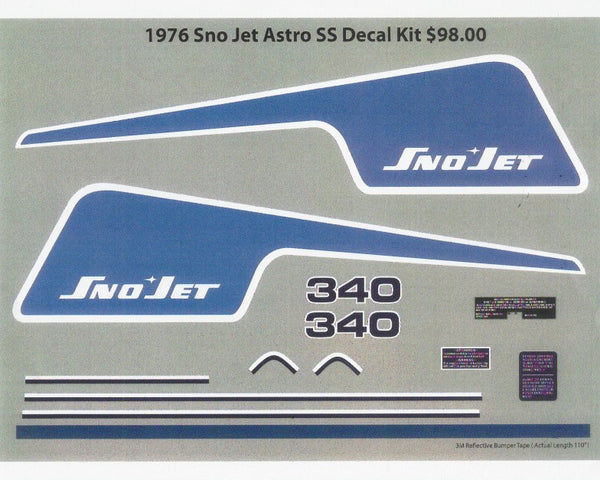1976 Sno-Jet Astro SS Decal Kit