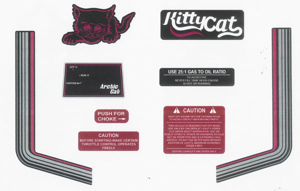1975-1979 Arctic Cat Kitty Cat Decal Set