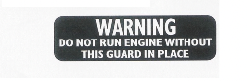 1973-74 Arctic Cat Warning Decal