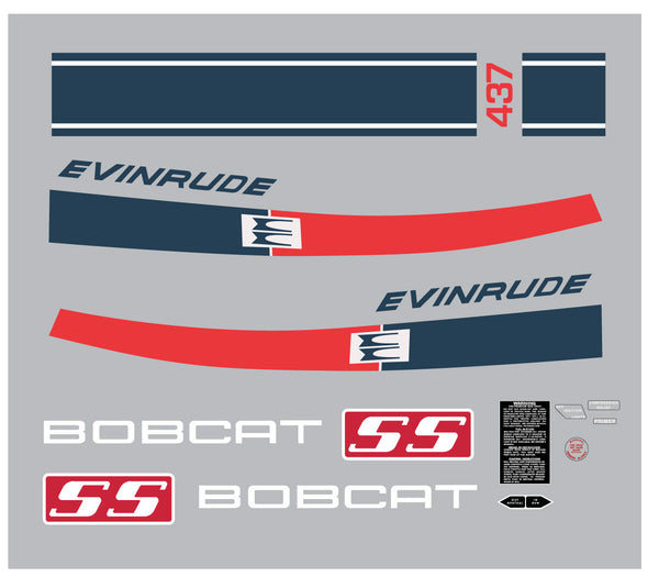 1971 Evinrude Bobcat 437 Decal Kit