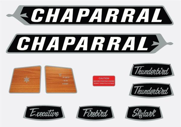 1971 Chaparral Decal Kit