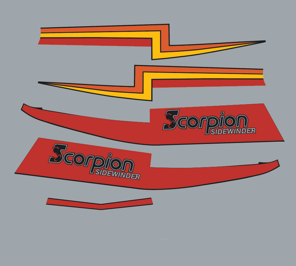 1981 Scorpion Sidewinder Hood Stripe Decals