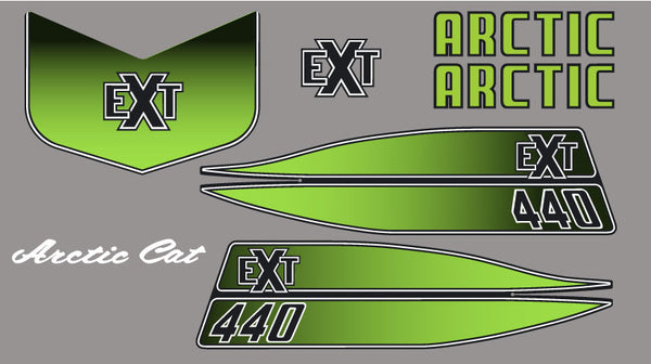 1973 Arctic Cat EXT 440 Porter Decal Set