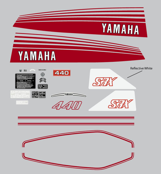 1977 Yamaha SRX 440 Decal Set