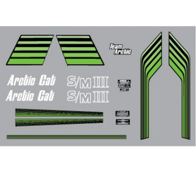 1977 Arctic Cat Z Sno Pro Decal Set