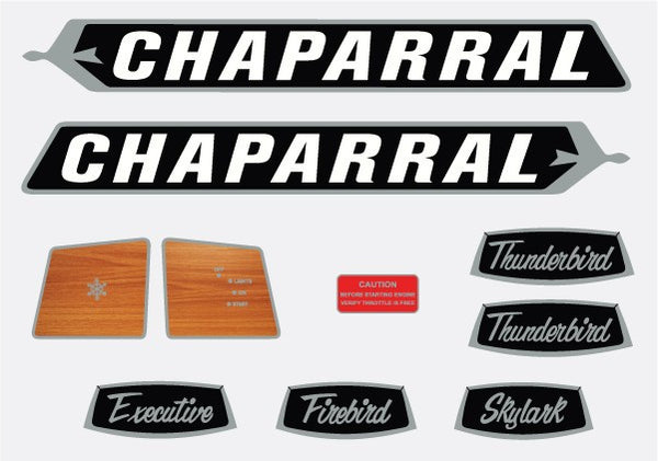 1971 Chaparral Decal Set