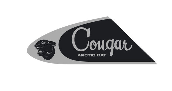 1967-68-69 Arctic Cat Cougar Dash Logo Chrome Decal