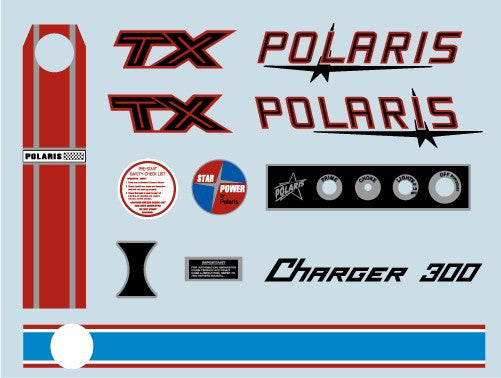 1971 Polaris TX Charger Decal Set