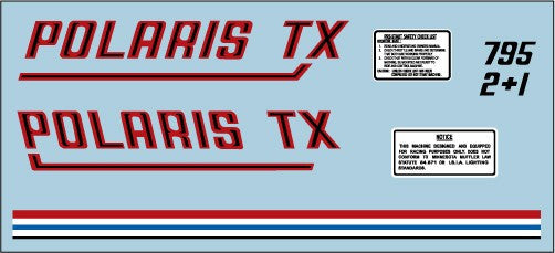 1971 Polaris TX Racer Decal Set
