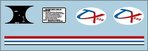 1972 Polaris ATX Decal Set