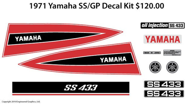 1971 Yamaha SS/GP Decal Set