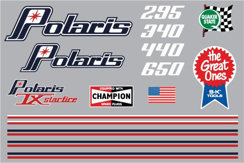 1974 Polaris PDC Decal Set
