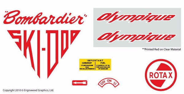1965 Ski-Doo Olympique Decal Set