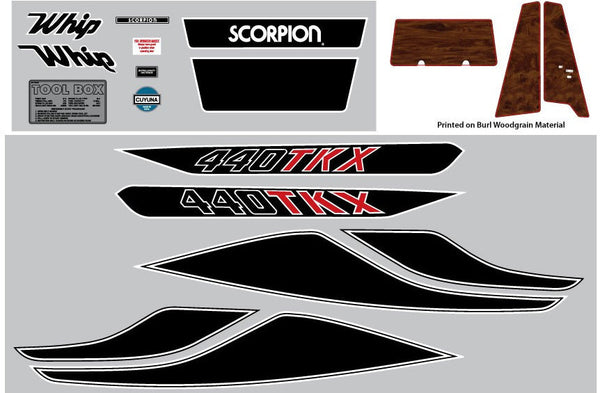 1979 Scorpion Whip TKX Decal Set
