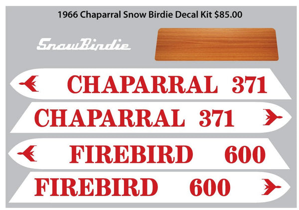 1968 -69  Chaparral Firebird Decal Set