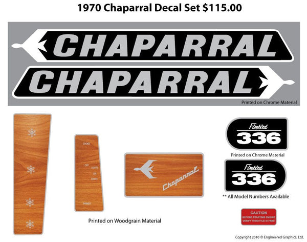 1970 Chaparral Decal Set