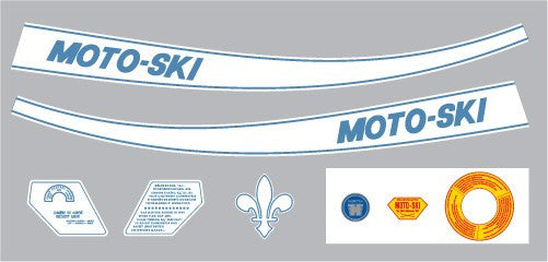 1970 Moto-Ski Decal Set