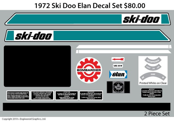 1972 Ski-Doo Elan Decal Set