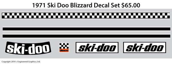 1971 Ski-Doo Blizzard Decal Set