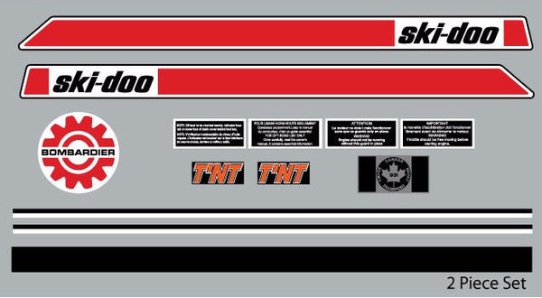 1972 Ski-Doo TNT Decal Set