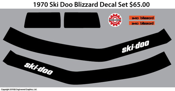 1970 Ski-Doo Blizzard Decal Det