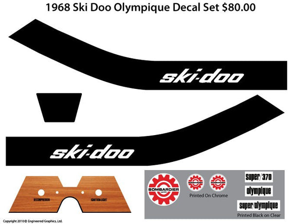 1968 Ski-Doo Decal Set