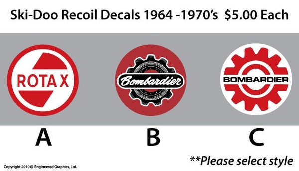 1964 - 1970's Ski-Doo Recoil Decals