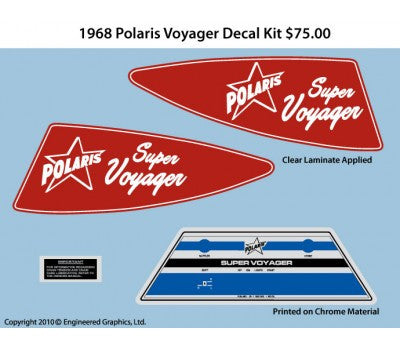 1968 Polaris Super Voyager Decal Set