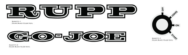 RUPP GO-JOE Decals