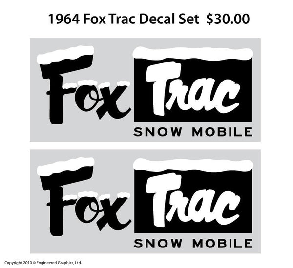 1964-65 Fox Trac Decal Set
