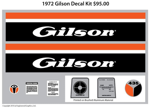 1972 Gilson Decal Set