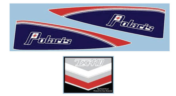 1977 Polaris TX Hood Decals