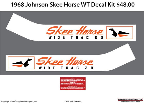 1968 Johnson Skee-Horse Wide Trac Decal Set