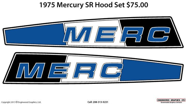 1975 Mercury SR Decal Set