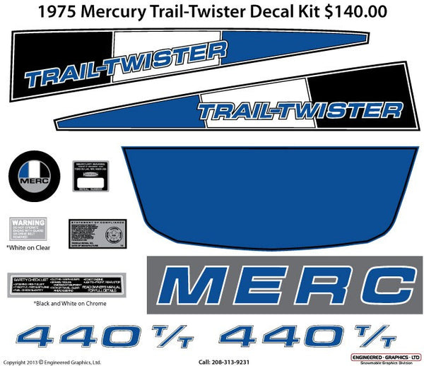 1975 Mercury Trail Twister Decal Set
