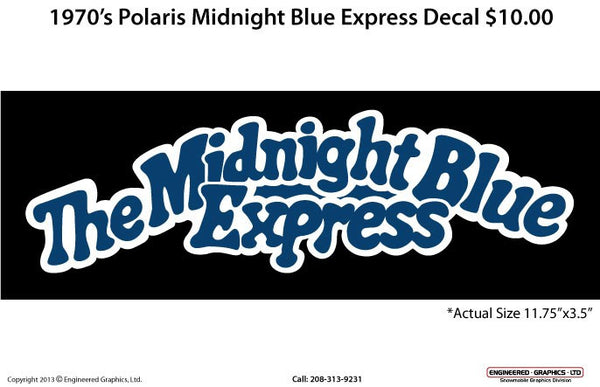 1970's Polaris Midnight Blue Express Decal