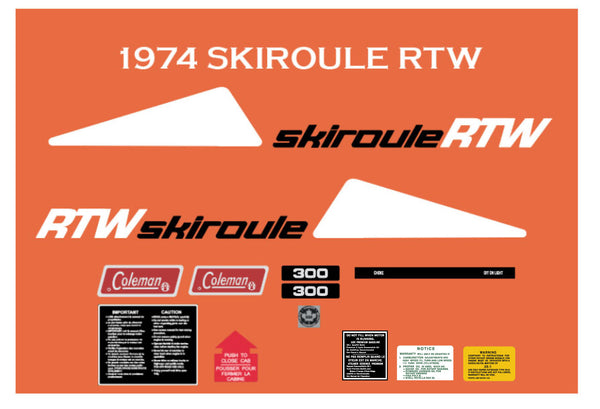 1974 Skiroule RTW Decals