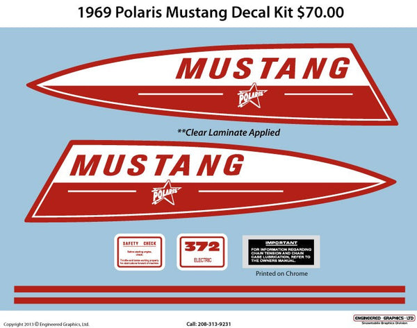 1969 Polaris Mustang Decal Set